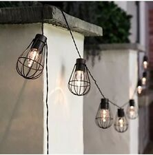 Copper Fairy Lights - 10 Balloon Cages - Warm White LEDs - Solar Powered - 3.8m