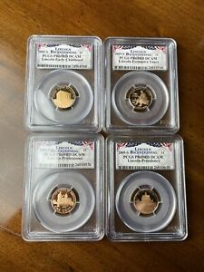 2009-S Lincoln Bicentennial Cent Penny PCGS PR69RD DCAM 4 Coin Set