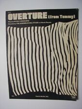 OVERTURE (from Tommy) Sheet Music THE ASSEMBLED MULTITUDE 1969 Pop #16 Townshend