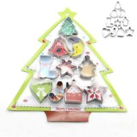 10Pcs Christmas Baking Mold Mould Tool Biscuit Pastry Cookie Cutter Cake Decor