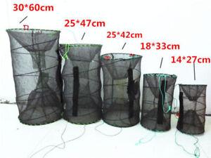 Foldable Crab Fish Crawdad Shrimp Minnow Fishing Bait Trap Cast Net Cage