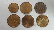 Japan 5 Rin & 1 Sen 6 year Type Lot, 1918 1935~1938, AU-UNC