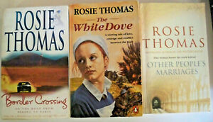 3 x Rosie Thomas - Border Crossing + The White Dove + Other People's Marriages