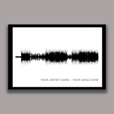 Custom Sound wave Art Print, Personalized Sound Wave, 1st Anniversary Gift