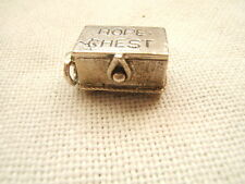 VINTAGE STERLING SILVER DANECRAFT CHARM HOPE CHEST OPENS