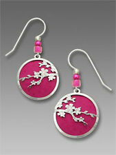 Cherry Blossom EARRINGS by Adajio STERLING Fuchsia Flowers - Gift Boxed