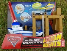 Disney Cars 2 Crabby Boat Action Agents NEW
