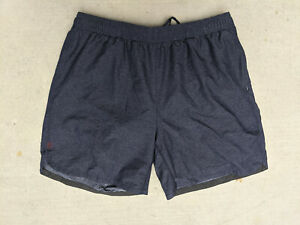 "Rhone Shorts 7"" Fully Lined Drawstring Mens Large Slate Grey Blue"
