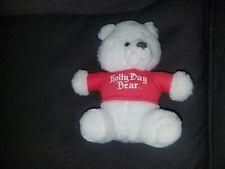 "Caltoy White Bear ""Holly Day Bear"" Plush"