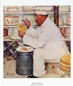Norman Rockwell Pastry Chef Print HOW TO DIET