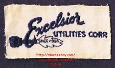 LMH PATCH Badge EXCELSIOR UTILITIES Corp.  Natural Gas SINCE 1908  Uniform 1960s