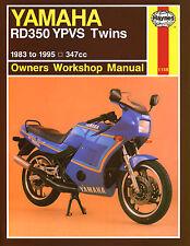 Haynes Manual 1158-Yamaha RD350 YPVS Gemelos (83 - 95) Taller/Servicio/Reparación