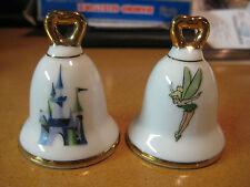 Vintage DisneyLand Japan Walt Disney Productions Castle Tinker Bell Salt Pepper