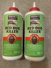 2 Bottles Maggie's Farm Bed Bug Killer Dust 3oz Powder Ants Mites Fleas Ticks