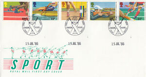 (87991) GB FDC Commonwealth Games [Cricket] England v India London NW8 1986