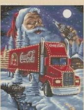 Cross Stitch Chart - Coca Cola Santa Christmas Truck  no 311 TSG37FREE UK P&P..