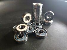 16 CERAMIC Quad roller skate bearings white (fits Moxi)