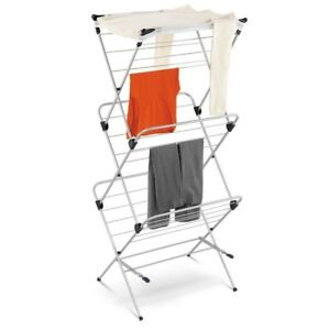 Honey-Can-Do 3-Tier Mesh Top Drying Rack Air Clothing Steel Foldable Expandable