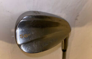 Knight Nickel Stainless Rip Stop 56* Power Spin Sand Wedge Steel Golf Club R.H.