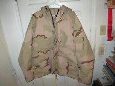 US Army Desert Camo GORE-TEX Wet Cold Weather Parka Jacket Large Short