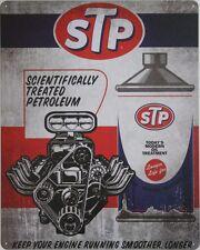 Tin Metal Sign STP oil treatment motor lubricant Hemi 426 hot rod shop garage rt