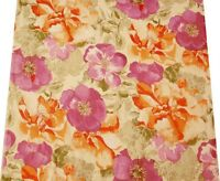 Cotton Voile Fabric Floral Pattern Beige Sewing Drape Apparel India By 1 Metre