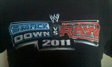 WWE Wrestling Smackdown VS Raw Promo T-Shirt PS3 PSP 2011 Spiel Herren S SMALL