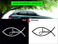 Jesus Fisch Auto Aufkleber – Auto Tattoo – Wand Tattoo 10x4 cm  #2/334