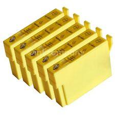 5 kompatible Tintenpatronen gelb für den Drucker Epson SX430W S22 SX230