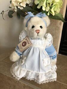 Boyds Bears BELLE #92004-08 Patty Duke Exc Blue Dress/WHT Ruffled Apron MWT RARE