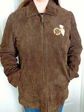 """Disney Ladies Brown Suede Jacket - Embroidered """"Winnie The Pooh"""" 1966"""