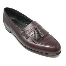 Men's Florsheim Loafers Dress Shoes Size 9.5D Burgundy Leather Kilt Tassels T12