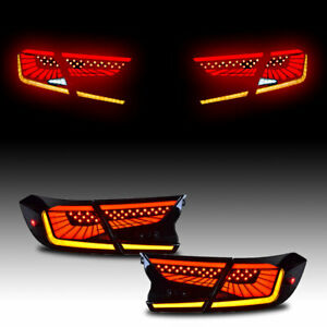 Full LED Smoked Tail Lights For Honda Accord 2018 2019 2020 Rear Lamps Assembly