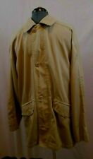 Geoffrey Beene Medium Khaki French Coat Cotton Blend 4 Buttons over Hidden Zip