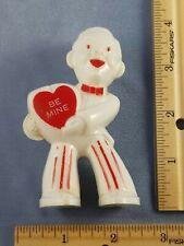 Vintage VALENTINE CANDY MAN Be Mine CONTAINER Unmarked Rosbro Rosen