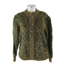 Stapf Tyrol Strickjacke 42/44 grün braun Cardigan Jacke Wolle Mohair top