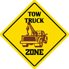 """*Aluminum* Tow Truck Crossing Funny Metal Novelty Sign 12""""x12"""""""