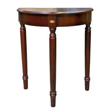 "Dark Cherry finish lightweight half moon console accent table 30""H"