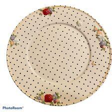 "New ListingMary Engelbreit Plates 10.5"" Polka Dots & Raised Flowers Me Ink 2000 Rare"