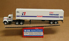 Promotex/Herpa 41-2004 HO CN Thermo 48' reefer container w/CN Laser GMC tractor