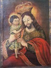 """Cuzco Art Handmade Christian Oil on Canvas Religious Painting W 20"""" / H 28"""""""