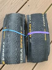 Pair (2) Continental Terra Speed Gravel 700c Tires 700 x 40 - Used
