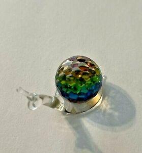 Swarovski Iridescent Crystal Snail Figure Figurine Rainbow Colorful