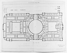 VECCHIO antico stampa Londra Westminster uffici pubblici architetto piano c1899