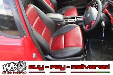 Red & Black Leather Front Bucket Seats VU VY VZ UTE Spac SS HSV Maybe VR VS KLR
