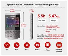 BlackBerry Porsche Design P'9981 8GB Silver English