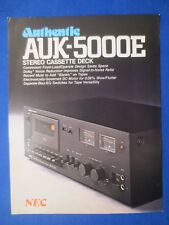New listing Nec Auk-5000E Authentic Cassette Sales Brochure Factory Original The Real Thing