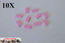 10X Lego® 3069 Fliese Platte Glatt Tile 1X2 Hell-Rosa Light Pink Purple NEU