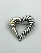 Silver 14k Yellow Gold Brooch Pin New listing