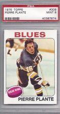 1975 Topps hockey card #309 Pierre Plante, St. Louis Blues PSA 9 Mint